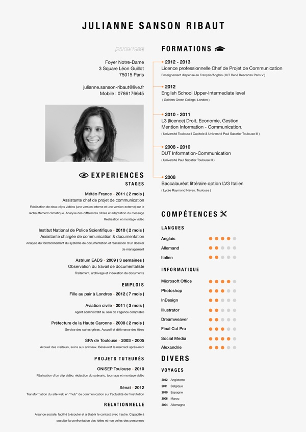 more infographic cv inspiration