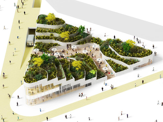 A Subterranean Supermarket With A Flourishing Roof-Top ...